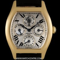 Cartier 18k Y/G Silver Dial Perpetual Cal Tortue Privee W1538651