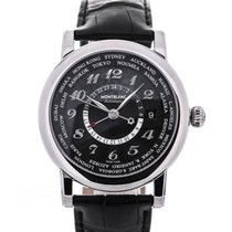 Montblanc Star World-Time GMT 42 Black Dial