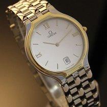 Omega Mens Swiss Made Deville 18k Gold-capped Bezel, Dress...