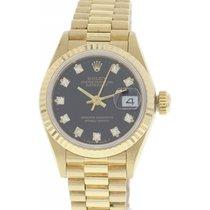 Rolex Ladies Rolex Oyster Perpetual Datejust 18K YG 69178