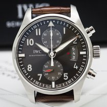 IWC IW387802 Pilot Spitfire Chronograph SS Grey Dial (25341)