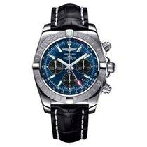 Breitling AB042011/C852-croco-black-deployant Chronomat GMT 44...