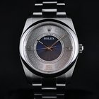 Rolex Oyster Perpetual No-Date 36mm Steel Silver Blue Dial 116000