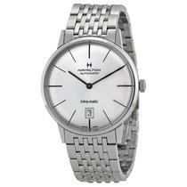 Hamilton Men's H38455151 Intra-Matic Silver Dial Watch