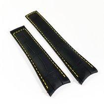 TAG Heuer Carrera Alligator leather strap 22mm black yellow...