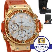 Hublot Big Bang Orange Tutti Frutti 18k Gold Sapphire Watch...