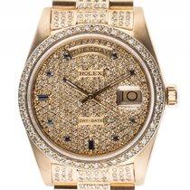 Rolex Day Date Gelbgold Full Diamond Saphir Automatik Armband...