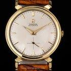 Omega 18k Y/G White Dial Fancy Lugs Gents Watch 1970s