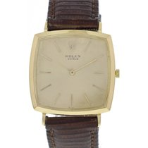 Rolex Vintage Rolex 18K Cushion Shaped Manual Watch circa...
