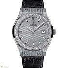Hublot Classic Fusion Quartz Titanium Diamonds Women`s Watch