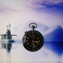 Hanhart Kal.40 MILITARY 2.WK KRIEGSMARINE WEHRMACHT CHRONOGRAP...