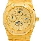 """Audemars Piguet Gent's 18K Yellow Gold  Royal Oak """"Qua..."""