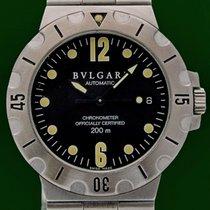 Bulgari Diagono 38mm Scuba 200m  Automatic Date Stainless Steel