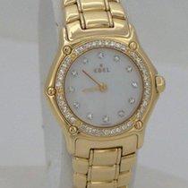 Ebel Ladies Ebel Mini 18k Yellow Gold 3/4ct Diamond Mother Of...