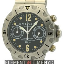 Bulgari Diagono Professional Scuba Chronograph Stainless Steel...