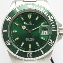 "Marcello C. ""Nettuno 3"" Alu Green. 40mm. steel/helium..."