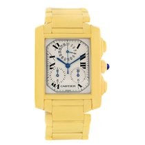 Cartier Tank Francaise Chronograph 18k Yellow Gold Watch W50005r2
