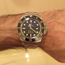 "Rolex Seadweller Deepsea + ""Rubber B"" strap (Black/Blue)"