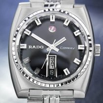 Rado Mens Vintage Swiss Conway Day Date Automatic Watch C 1968...