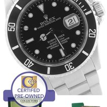 Rolex Submariner Date 16610 T Stainless Dive Watch SEL...