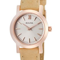 Bulova Classic Rose Gold Plated Steel Womens Strap Watch...