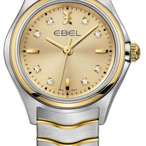 Ebel 1216317 Classic Wave in Steel with Yellow Gold Bezel - on...
