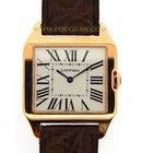 Cartier 18k rose gold Santos Dumont