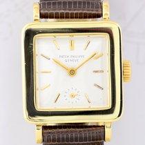 Patek Philippe 18K Gelbgold Square very rar Dresswatch Vintage