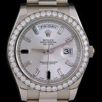 Rolex Day Date ref 218349 sapphire diamond baguette dial