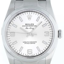 Rolex Air-King Stainless Steel Men's Watch Silver Dial 114200
