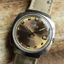 Fortis TUXEDO AUTOMATIC 1970's CUSHION CASE TROPICAL BROWN...