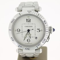 Cartier Pasha Steel 38mm white Dial OpenBack (BOX2013)  38mm