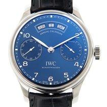 萬國 (IWC) Portuguese Stainless Steel Blue Automatic IW503502