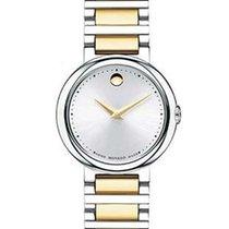 Movado Concerto Two-Tone Ladies Watch - Silver-Tone Soleil...