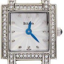 Bulova 96l140 Ladies Crystal Silver Tone Watch