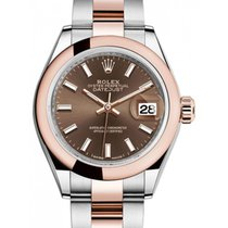 Rolex Lady-Datejust 28 279161 Chocolate Index Rose Gold...