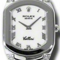 Rolex Cellini Cellissima Ladies 6692-9 White Roman Diamond Set...
