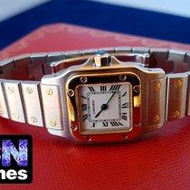 Cartier Santos Galbee Lady Steel Gold 1567