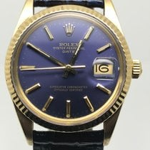 Rolex DATE 34MM AUTO GOLD 18K VERY RARE BLUE DIAL
