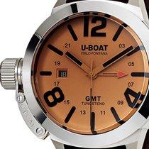 U-Boat 8051 Classico GMT Tungsteno Automatik beige 45mm