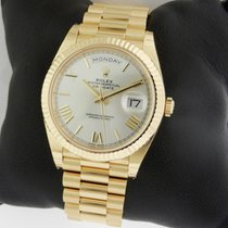 Rolex Day-Date 40 President 18K YG 40mm 228238 Silver Roman Dial