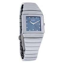 Rado Mens Platinum Tone Ceramic Quartz Watch R13332202