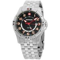 Wenger Squadron Gmt Black Dial Men's Watch 77076