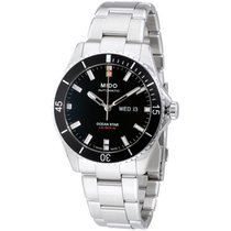 Mido Ocean Star Stainless Steel Black Dial Automatic Men's...