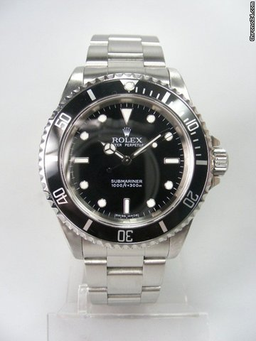 Rolex Submariner 14060M sans date complet acier