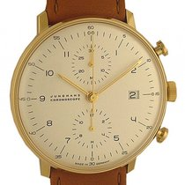 Junghans Max Bill Chronoscope Chronograph Gelbgold Automatik 40mm