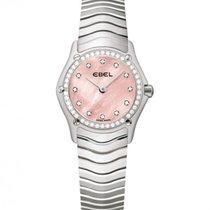 Ebel Classic Steel Pink Mother Of Pearl Dial, Diamonds Bezel