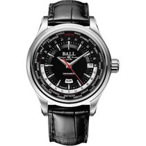Ball Trainmaster Worldtimer Automatik Herrenuhr GM2020D-LL1FCJ-BK