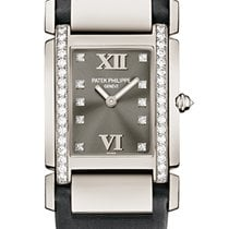 Patek Philippe TWENTY-4 Medium White Gold Grey Satin Strap