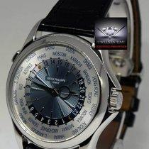 Patek Philippe Mens 5130P World Time Platinum Watch & Box...